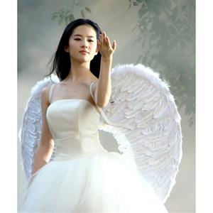 100CM white Angel Wings, white Angel Wings, Angel Wings, #J9082