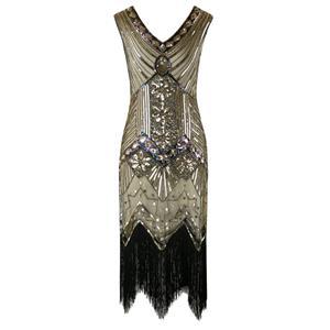 1920s Vintage Dresses for Women, 1920s Fashion Dress for Women, Sequin Sleeveless Dress, Women