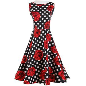 Spring Garden Party Picnic Dress, Party Cocktail Dress, Vintage Casual Retro Dress, Cotton Vintage Tea Dress, Party Swing Dress, Plus Size Dress, #N11921
