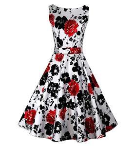 Spring Garden Party Picnic Dress, Party Cocktail Dress, Vintage Casual Retro Dress, Cotton Vintage Tea Dress, Party Swing Dress, Plus Size Dress, #N11064