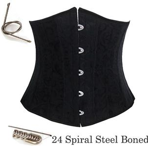Waist Cincher Corset Body Shaper Girdle, Steel Bone Waist Training Corset, 24 Spiral Steel Boned Brocade Corset, #N8268