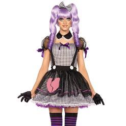 4-Pieces Maid Dollie Adult Babydoll Halloween Costume N11366