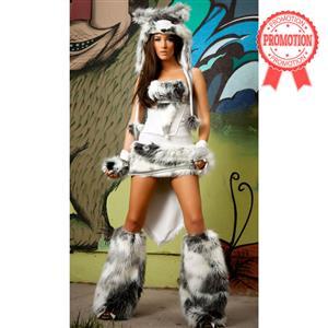 Deluxe Husky Costume, Sexy Husky Costume, Women