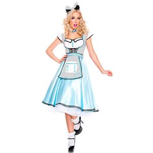 Adult Wonderland Halloween Costume, Cute Alice Wonderland Costume, Ladies