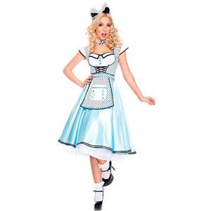 Adult Wonderland Halloween Costume, Cute Alice Wonderland Costume, Ladies