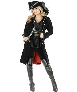 Adult Black Pirate Vixen Costume, Pirate Costume, Pirate Costumes Adults, #P4715