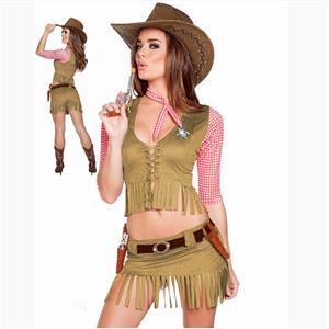 Adult Halloween Costumes, Sexy Cowboy Girl Costume, Cowboy Girl Masquerade Costume, Cowboy Girl Halloween Cosplay Adult Costume, #N17740