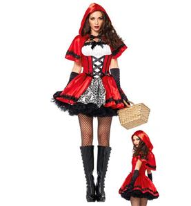 Sexy Halloween Costume, Glamorous Red Riding Hood Costume, Fancy Cosplay Dresses, Gothic Red Riding Hood Halloween Costume, #N9890