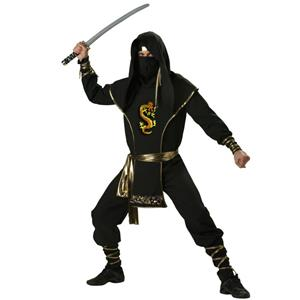 Ninja Warrior Elite Collection Adult Costume, Ninja Costume, Adult Ninja Warrior Costume Premier, #N6805
