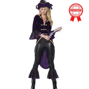 Adult Pirate Costume, Captain Amethyst Pirate Costume, Pirate Ladies Costume, #N5862