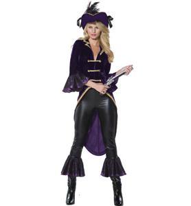 Adult Pirate Costume, Captain Amethyst Pirate Costume, Pirate Ladies Costume, #N5862