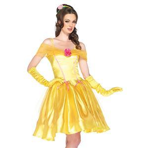 Princess Belle Costume Woman, Adult Princess Costume, Disney Belle Costume,Adult Pantomine Bella Princess Costume, Fairy Tale Bella Princess Costume #N6559