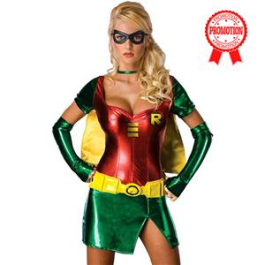 Womens Robin Costume, Sexy Robin Adult Womens Costume, Sexy Robin Costume, #N6399