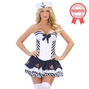 Stars and Stripes Sailor Costume, Blue Sailor Costume, Adult Stripe Sailor Costume, #N5860