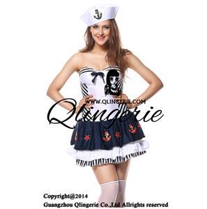 Adult Stripe Sailor Costume N5860
