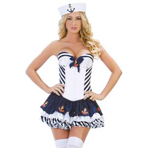 Adult Stripe Sailor Costume N5860