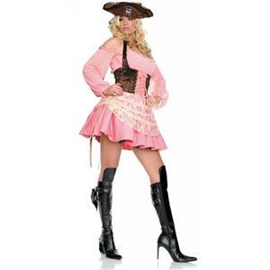 Pink Pirate Costume, Adults Pirate Costume, Pirate Costume, #N6785