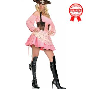 Pink Pirate Costume, Adults Pirate Costume, Pirate Costume, #N6785