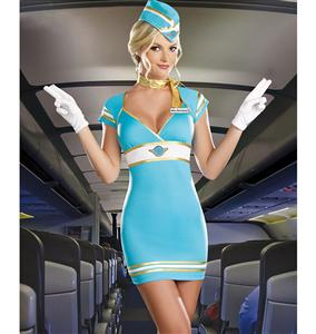 Air Candy Costume, Retro Stewardess Costume, 70s Stewardess Costume, #N6001