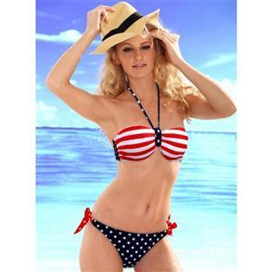 Sexy American Britain Flag Bra Bikinis, American Flag Bikini, Flag Bikini Set, #BK6305