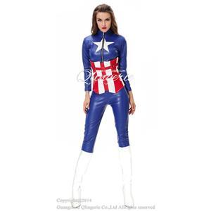 Sexy Captain America Costume, American Hero Sexy Costume, Deluxe Hero America Costume, #N8613