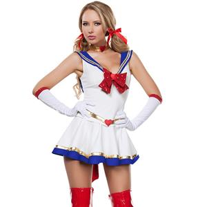Cheap Sailor Costume, Anime Sailor Costume, Cosplay Costume, Hot Sale Halloween Costume, #N10447