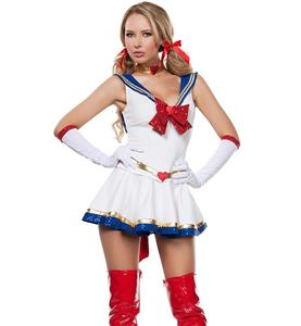 Cheap Sailor Costume, Anime Sailor Costume, Cosplay Costume, Hot Sale Halloween Costume, #N10447