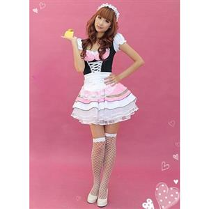 Pretty Maid Costume, Party Japan Maid Costume, Ardently Love Cuisine Maid Costume, #M8449