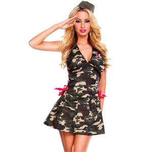 Sexy Army Costume, Army Girl Costume, Sexy Army Halloween Costume, #N4899