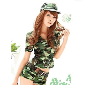 Sexy Army Camouflage Uniform Costume, Women