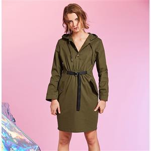 Hooded Day Dress, Sexy Women