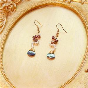 Retro Mermaid Earrings, Summer Seashell Dangler, Fashion Earrings for Women, Vintage Eardrops, Casual Earrings, Victorian Gothic Earrings, Fashion Summer Earrings, #J21460