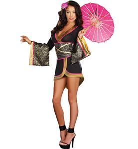 Asian Persuasion Costume, Short Asian Cutie Costume, Japanese Geisha Costume, #G8813