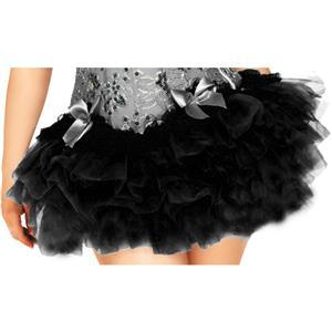 Black Mesh Skirt, Ballerina Style Skirt, Sexy Tutu Skirt, #HG7729