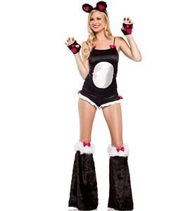 Bamboo Babe Panda Bear Costume, Bamboo Babe Costume, Furry Panda Costume, Furry Panda Rave Outfit, #N8073