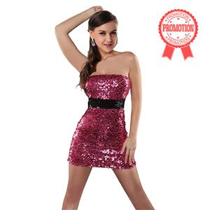 Bandeau Minidress with sequins N5412