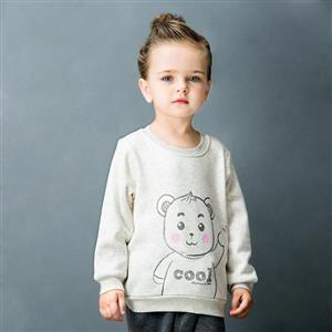 Lovely Bear Print Long Sleeve Sweatshirt, Girls Sweatshirt, Cotton Sweatshit for Girls, Jersey Pullover for Winter, #N12317