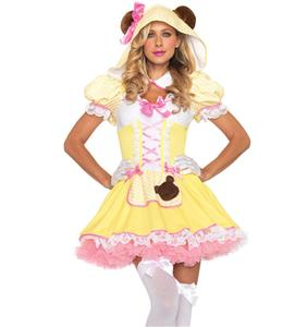 Beary Cute Goldilocks Costume, Goldilocks Costume, Sexy Goldilocks Costume, Adult Goldilocks Costume, #N4518