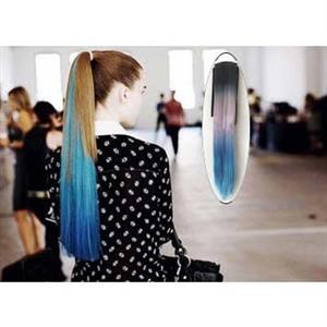 Fashion Beaty Straight Ponytail Wigs, Gradient Blue Straight Ponytail Wigs, Wholesale Wigs, Blue Wigs, #MS9268