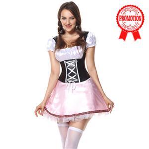 Beer Garden Girl Costume, Pink Beer Girl Costume, Pink Beer Garden Costume, #N5863