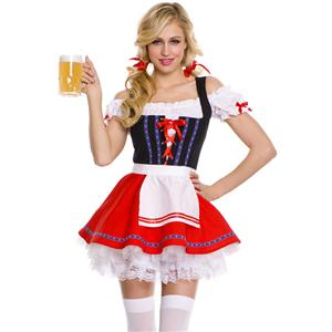 Sumptuous Beer Girl Costume, Bavarian Beer Girl Costume, Beer Girl Halloween Costume, #N5771