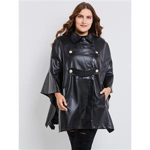 Plain Black Overcoat , Women