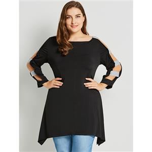 Black Long Sleeve T-Shirt, Women