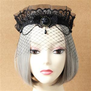 Halloween Masks, Costume Ball Masks, Black Lace Mask, Masquerade Party Mask, #MS12937
