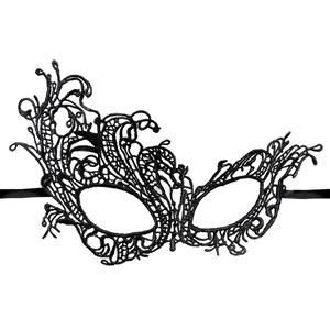 Halloween Masks, Costume Ball Masks, Black Lace Mask, Masquerade Party Mask, #MS11768