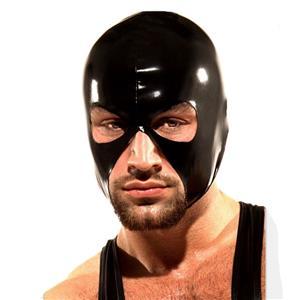 Halloween Party Masks, Black Latex Headgear, Sexy Latex S&M Bondage Men