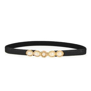 Luxury Pearl Waist Belt, Pearl Black Waist Belt, Luxury Leather Waist Belt Silver, Waist Belt for Women, Fashion Dress Waist Belt, Pearl Girdle for Women, #N16934