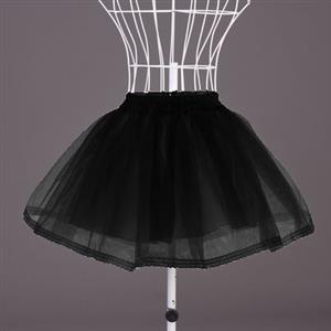 Sexy Skirt, Tulle Skirt, Black Mini Petticoat, #HG7785