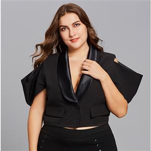 Short Sleeve Tops, Shawl Collar Tops, Plus Size Tops for Women, Women