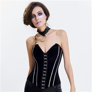 Outerwear Corset for Women, Fashion Body Shaper, Womens Bustier Top, Steel Boned Corset, Gothic Overbust Corset, Sexy Overbust Corset, #N14974